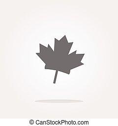 vector maple leaf icon glassy web button. Web Icon Art. Graphic Icon Drawing