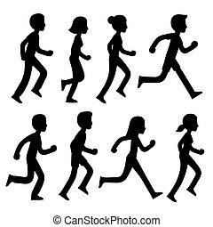 Vector marathon runners