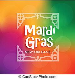 Vector Mardi Gras Poster celebratio