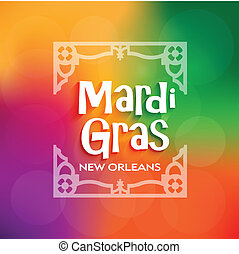Vector Mardi Gras Poster celebratio