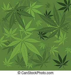 Vector marijuana background - Vector green marijuana...