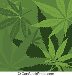 Vector marijuana background - Vector green marijuana...