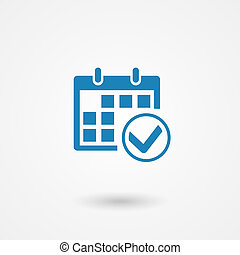 calendar icon - vector marks calendar icon on white...