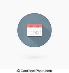 Vector marks calendar icon on white background.