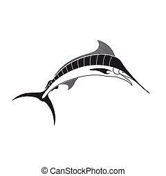 Vector Marlin Fish