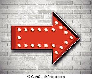 Vector marquee arrow symbol