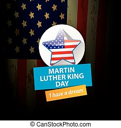 vector Martin Luther King day us sticker or label