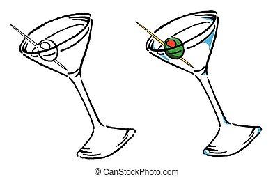 Martini Illustration