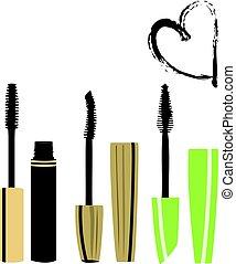 mascara - vector mascara brushes