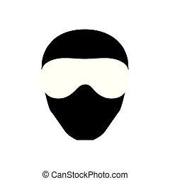 Vector masks of criminals, bandits