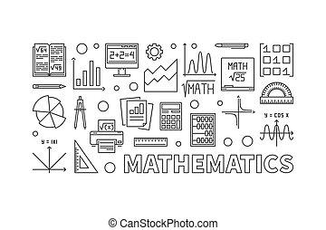 Vector mathematics concept modern illustration