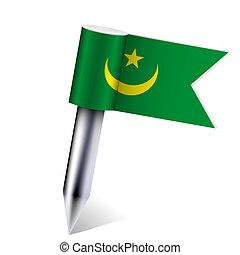 Vector Mauritania flag isolated on white. Eps10