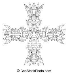 Vector Maya ornament