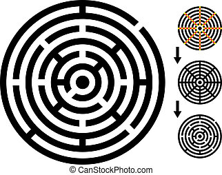 vector maze - easy change maze - change color any piece