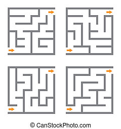 Vector maze - Set of vector mazes