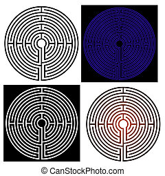Abstract vector illustration of the maze - labyrinth