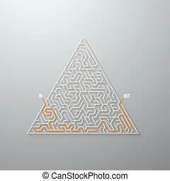 Vector Maze Labyrinth Game Puzzle with Solution