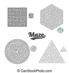 Vector Maze Labyrinth Set