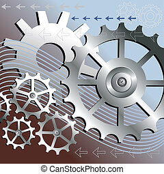 Vector mechanical background - Vector gears engineering ...