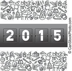 Vector mechanical scoreboard numbers 2015