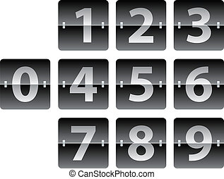 mechanical scoreboard - vector mechanical scoreboard numbers