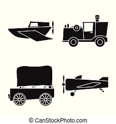 vector, mechanisch, liggen, uitstapjes, illustration., retro, set, voorwerp, vrijstaand, logo.