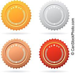 vector, medailles