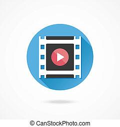 Vector Media Player Icon