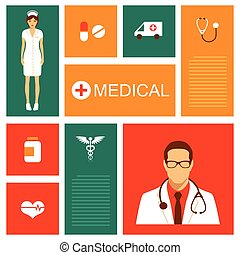 vector medical background, health, hospital illustration