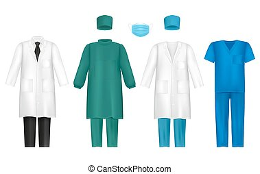 Vector medical clothes for healthcare professionals set -...