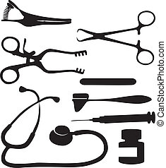 Medical tool black 03 - Vector. Medical tool black 03
