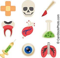 Vector Medicine Flat Icons