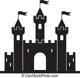 vector medieval castle building