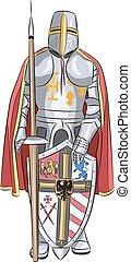 Vector.  Medieval knight.