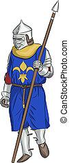 vector medieval knight