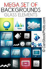 Vector mega collection of glass elements screens /...