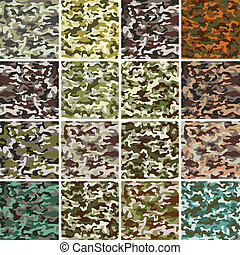 Vector Mega Set of Seamless Camouflage Pattern