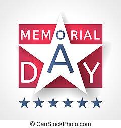 Vector Memorial Day card
