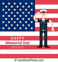 Vector memorial day card