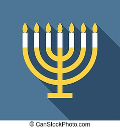 Vector menorah for Hanukkah
