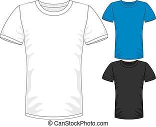 Vector Mens short sleeve t-shirt design templates
