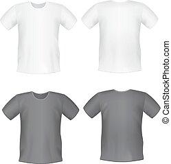 Vector. Men's t-shirt design template