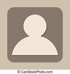 vector, mensen, pictogram