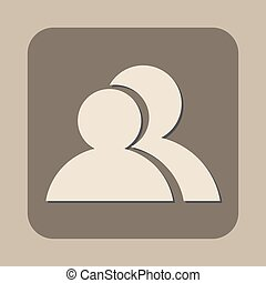 vector, mensen, twee, pictogram