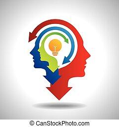 vector, mente, empresa / negocio