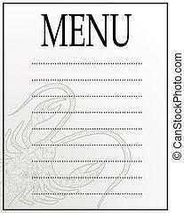 menu blank