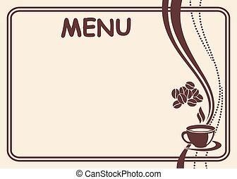 Vector menu form.