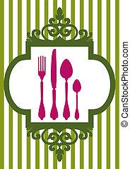 Vector menu of restaurant card