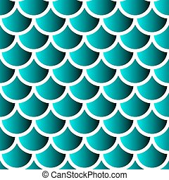 Vector mermaid scales - Japanese traditional ornament....