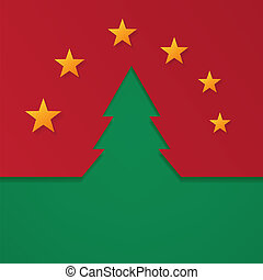Vector merry christmas background with fir tree.